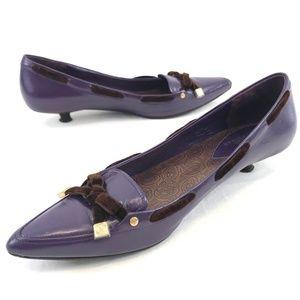 Cole Haan Purple Leather Kitten Heels Size 9